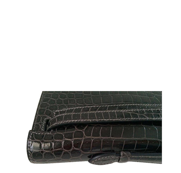 Hermes kelly cut croc graphite new detail