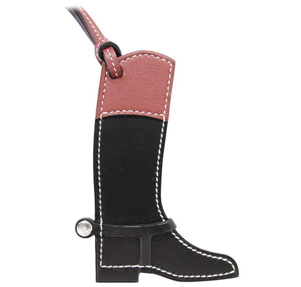 Hermes Paddock Boot Bag Charm Black