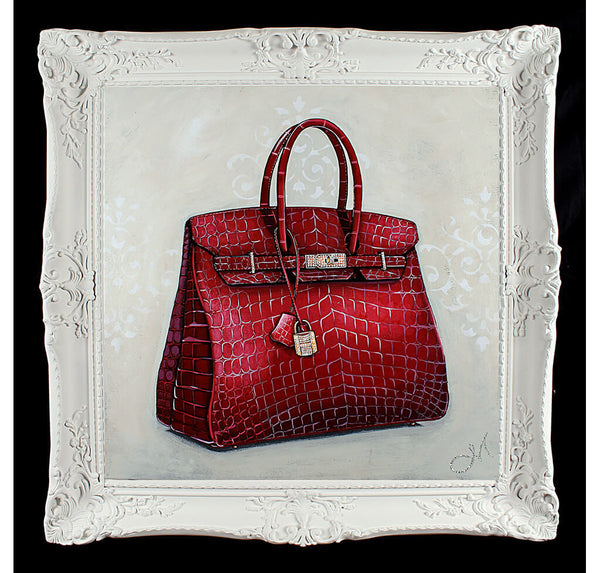 Original Rouge Hermes Birkin Painting