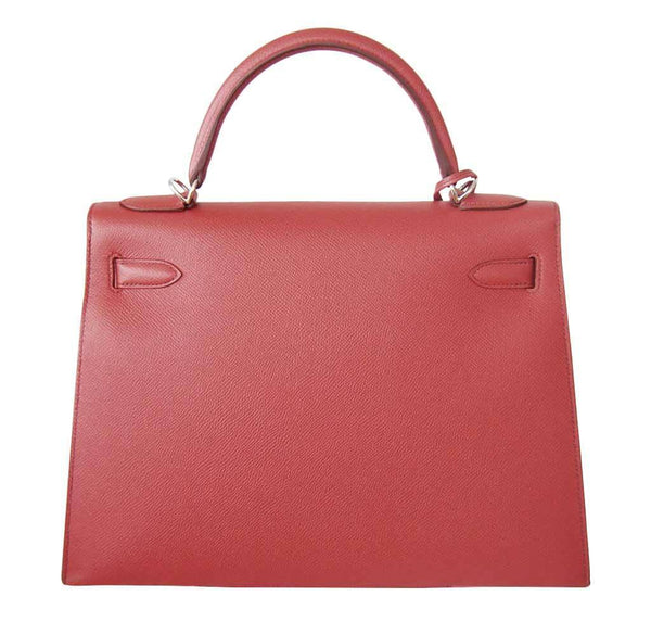 Hermes Kelly 32 Sellier Flag Flamogo Coral new back
