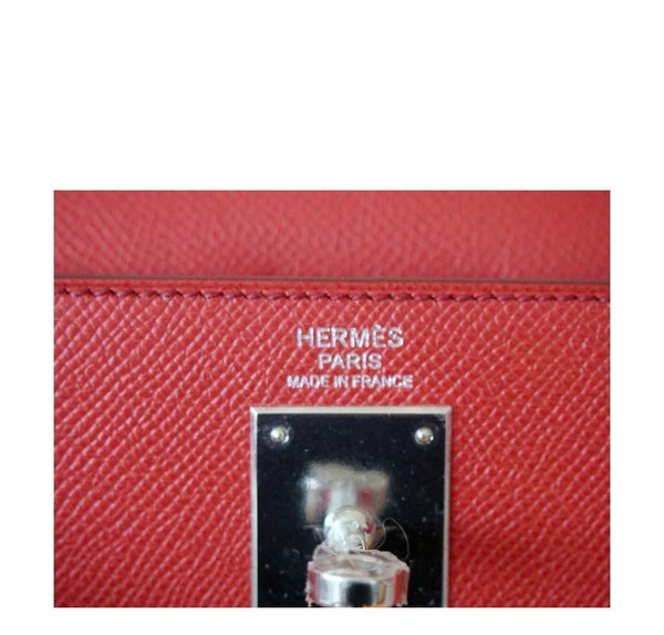 Hermes Kelly 32 Sellier Flag Flamogo Coral new embossing