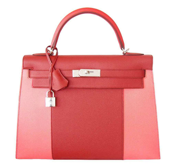 Hermes Kelly Sellier Flag Red Bag