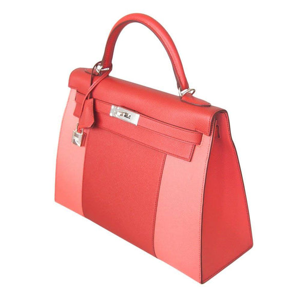 Hermes Kelly 32 Sellier Flag Flamogo Coral new profile
