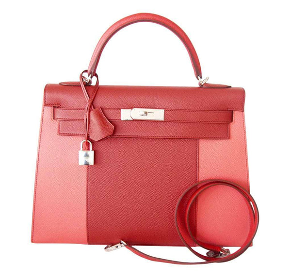 Hermes Kelly 32 Sellier Flag Flamogo Coral new strap