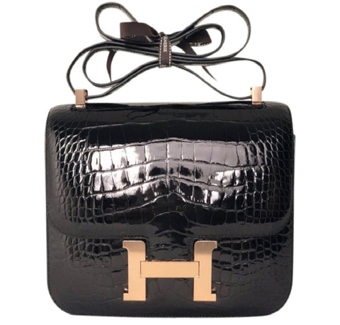 Hermès Constance 24 Alligator Noir Bag