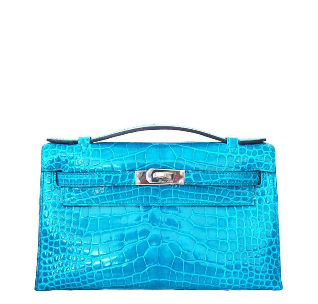 hermes kelly pochette in parchemin ostrich with gold