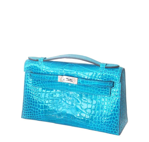 New Hermes Alligator Kelly Pochette Side