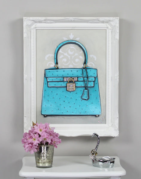 Hermes Kelly Diamond Ocean Dream Giclée on Wall