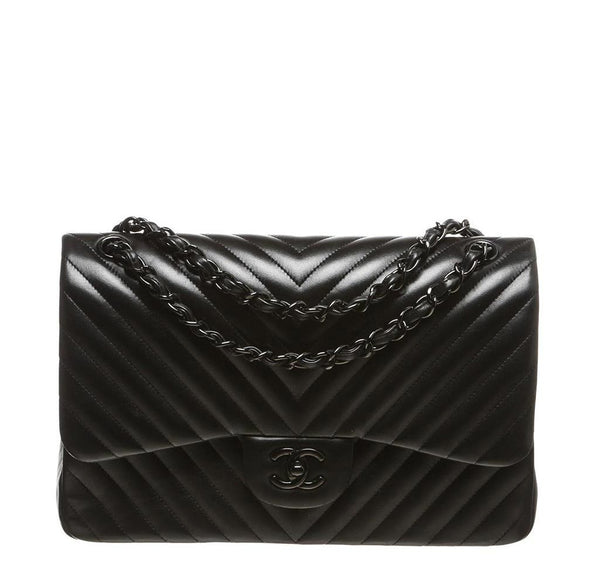 Chanel Black Jumbo Bag Lambskin