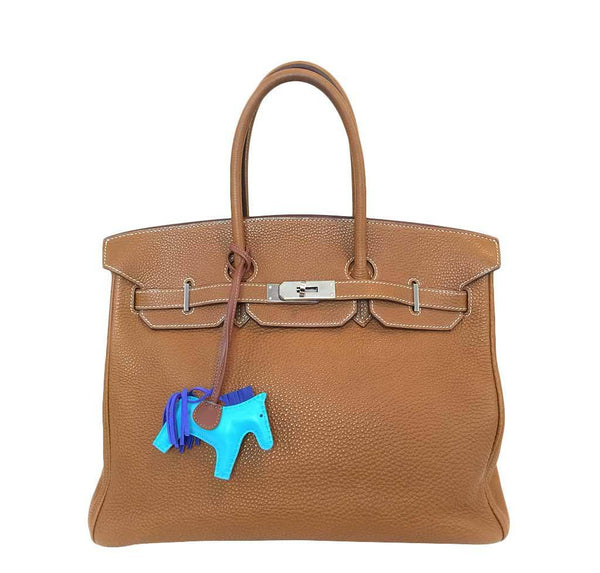 Hermes Birkin 35 Gold Togo Bag