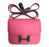 Hermes Constance 18 Rose Azalee Swift palladium hardware excellent front
