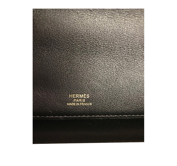 Hermes Kelly Cut Noir Swift gold hardware pristine stamp