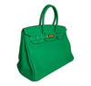 Hermes Birkin 35 Bamboo Green Togo gold hardware very good side