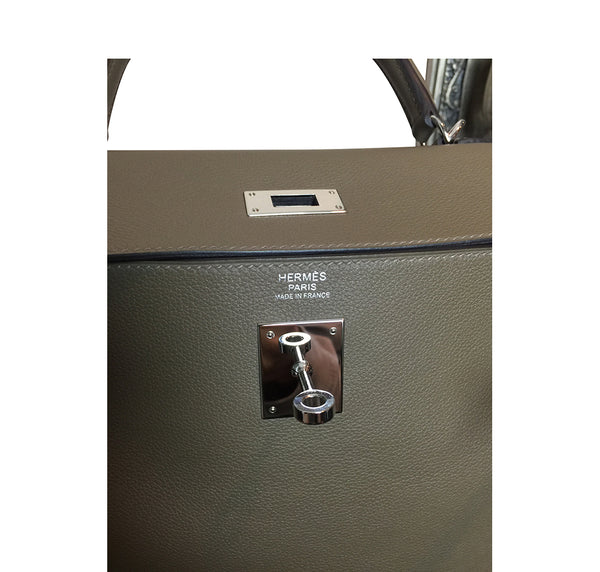 Hermes Kelly Retourne 32 Veau Evercolor Origan PHW Excellent Engraving