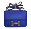 Hermes Constance Mini 18 Bleu Electrique Swift gold hardware excellent front