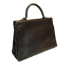Hermes Kelly 35 Ebene Evergrain Calfskin very good palladium back