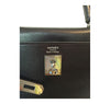 Hermes Kelly 35 Ebene Evergrain Calfskin very good palladium stamp