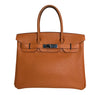 Hermès Birkin 30 Potiron Orange Togo palladium good front