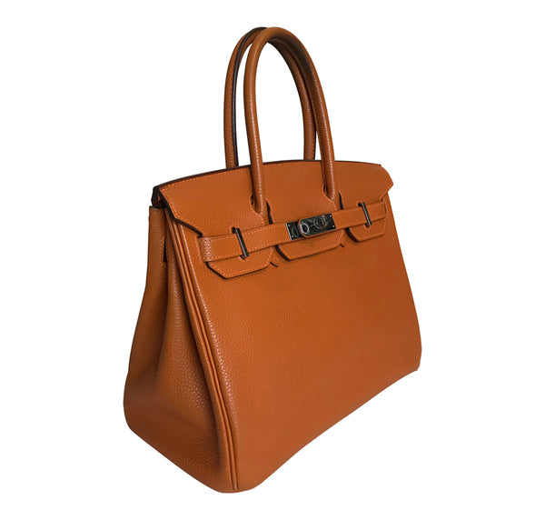 Hermès Birkin 30 Potiron Orange Togo palladium good side profile