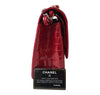 Chanel Red Jumbo Flap 2.55 Shiny Alligator Bag Excellent Side