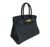 Hermes Birkin 30 Bag Noir Togo Gold pristine side