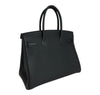 Hermes Birkin 30 Bag Noir Togo Gold pristine back side