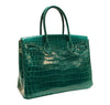 Hermes Birkin 30 Emeraude green Niloticus Crocodile Gold excellent back