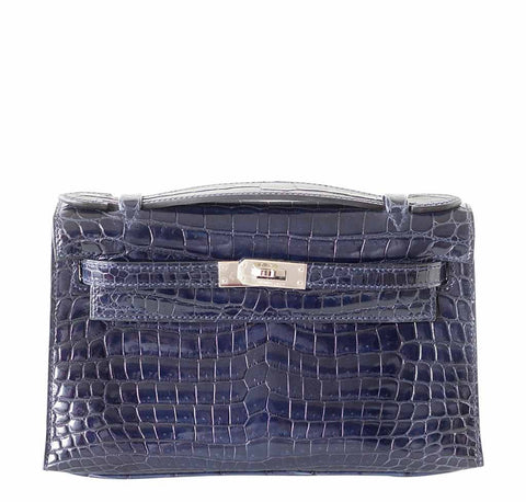 Hermes Kelly JPG Pochette Blue Bag