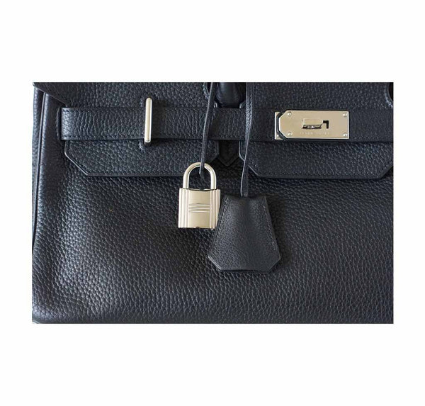hermes birkin jpg black used lock
