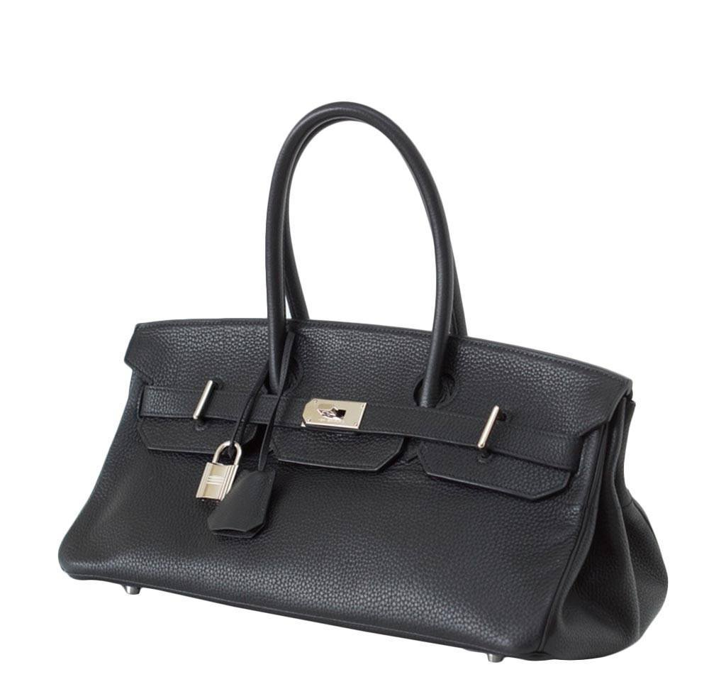 Hermes Birkin JPG Shoulder Bag Black hermes birkin jpg black used side ... c9255df2f43e6