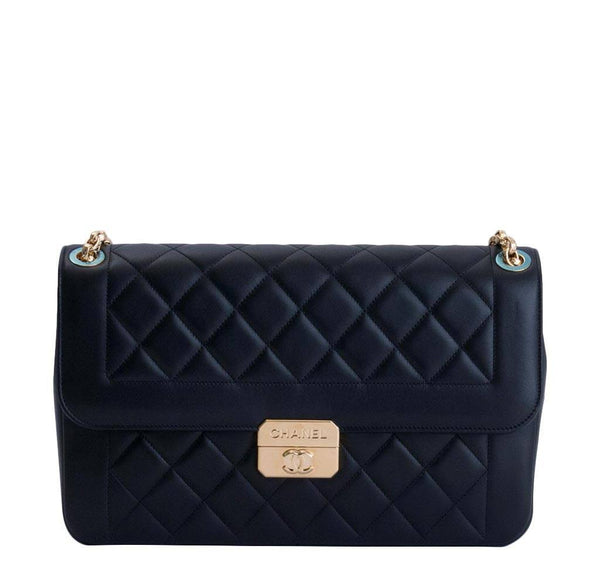 Chanel Flap Bag Black Lambskin