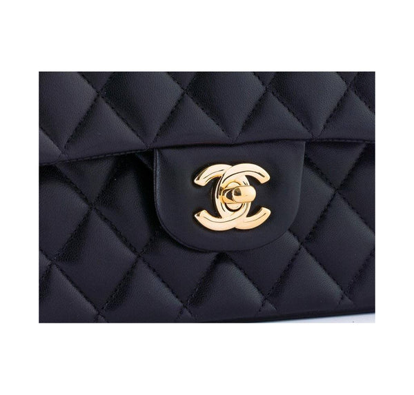 chanel boy flap bag black used logo