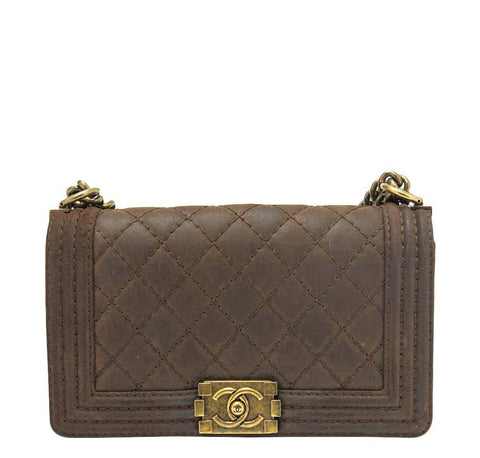 Chanel Boy Bag Flap Brown