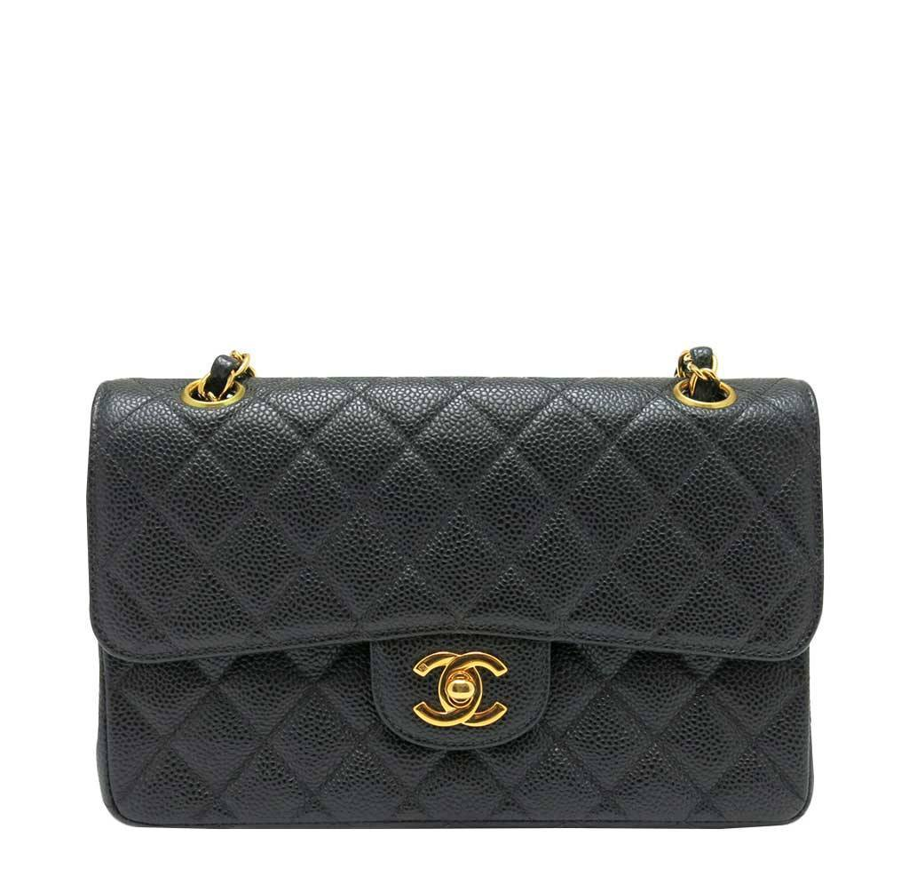 4d4365311e7b Chanel Classic Double Flap Bag Black - Caviar Leather