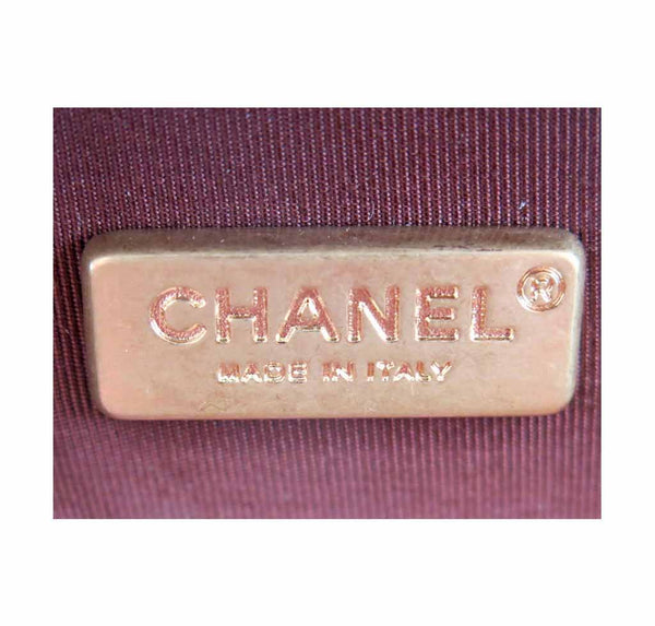 chanel stingray shoulder bag burgundy used detail