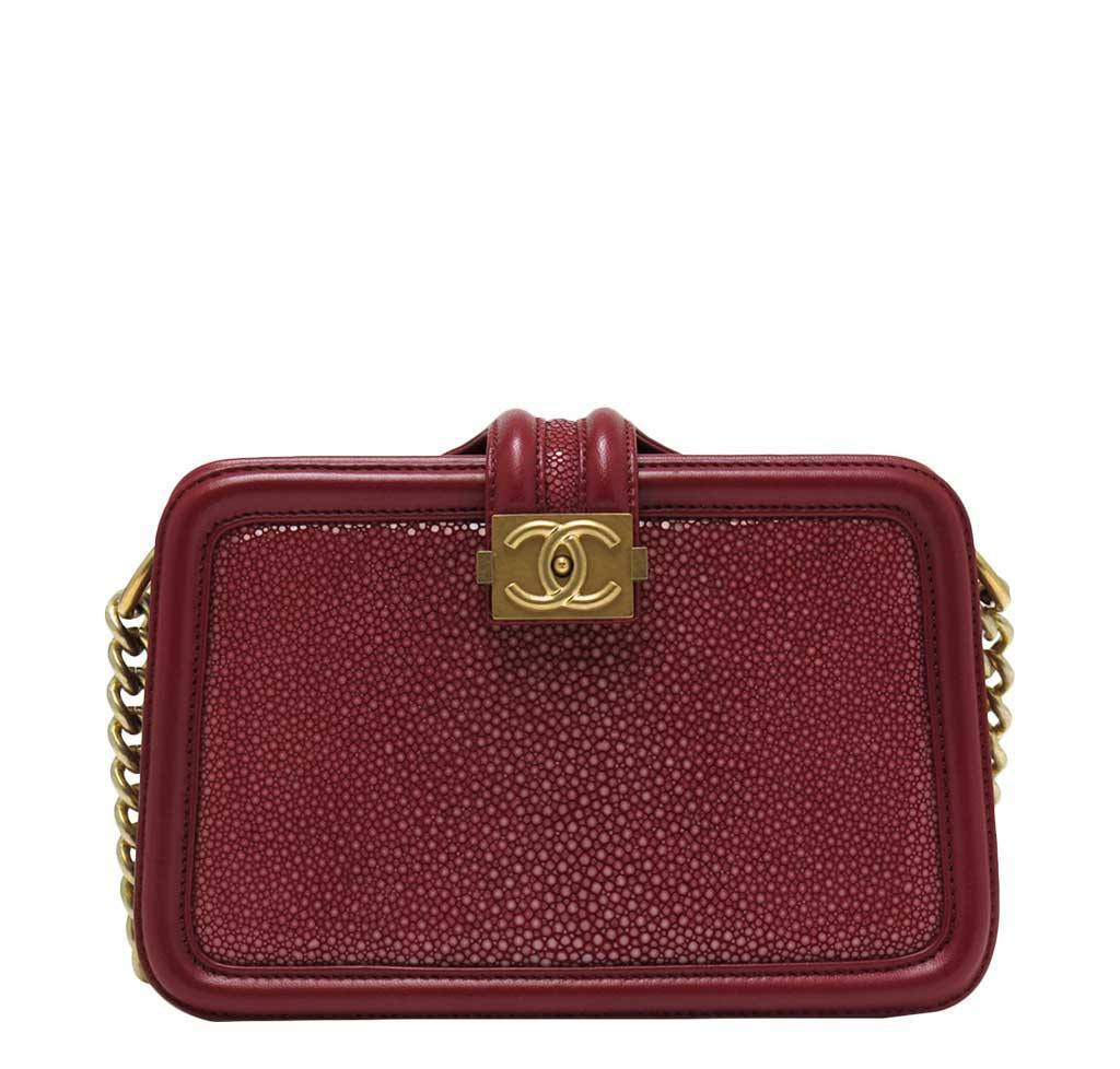 3ec572720af1b9 Chanel Stingray Shoulder Bag Burgundy - GHW | Baghunter