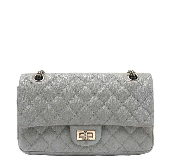 Chanel Double Flap Bag Gray