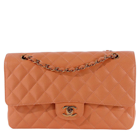 Chanel Classic 2.55 Bag Peach Caviar