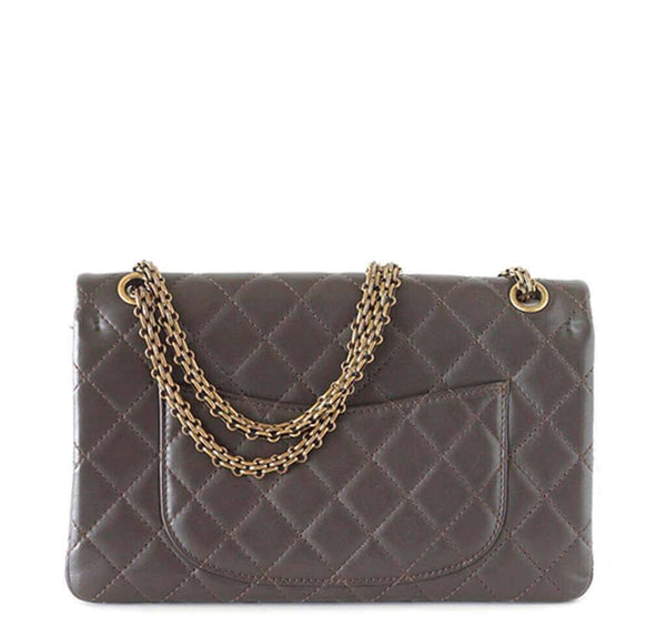 Chanel 2 55 Medium Bag Dark Khaki New Back