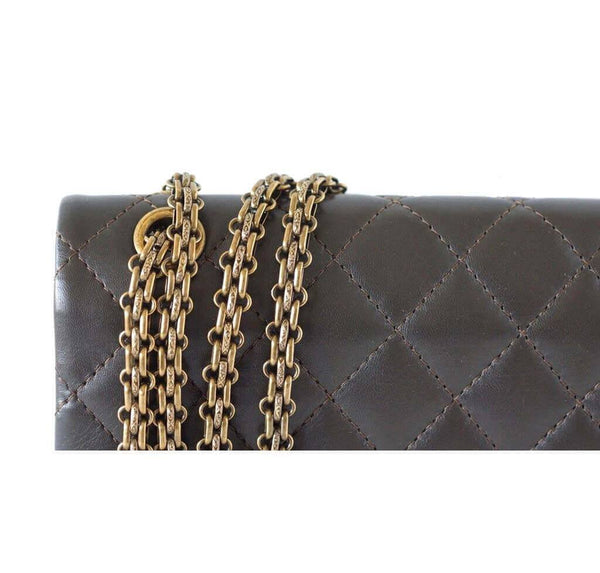 Chanel 2 55 Medium Bag Dark Khaki New Detail