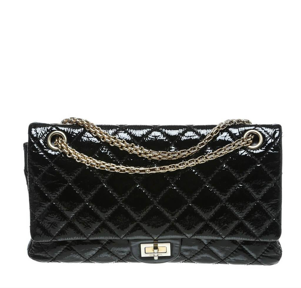 1ad3edeed230 Chanel 2.55 Reissue Jumbo Flap Bag Black - Patent | Baghunter