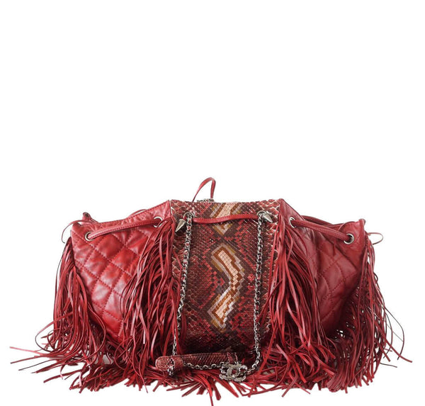 Chanel Dallas Collection Bag Python Red