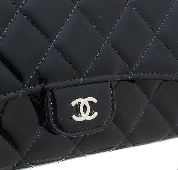 Chanel Pochette Bag Navy Blue Used Detail