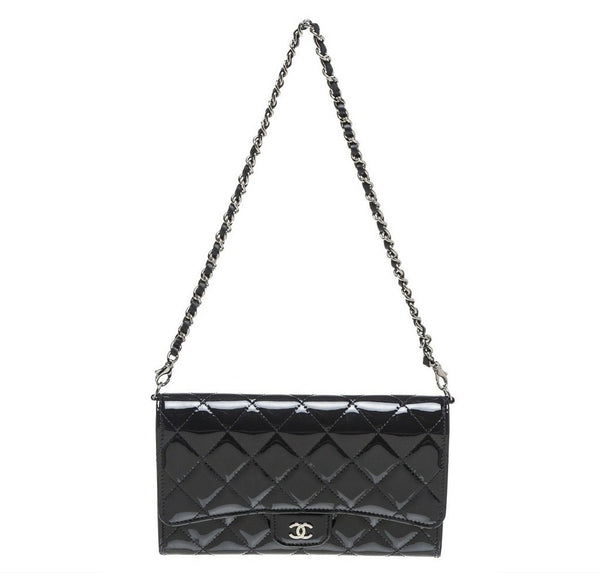 Chanel Pochette Bag Navy Blue