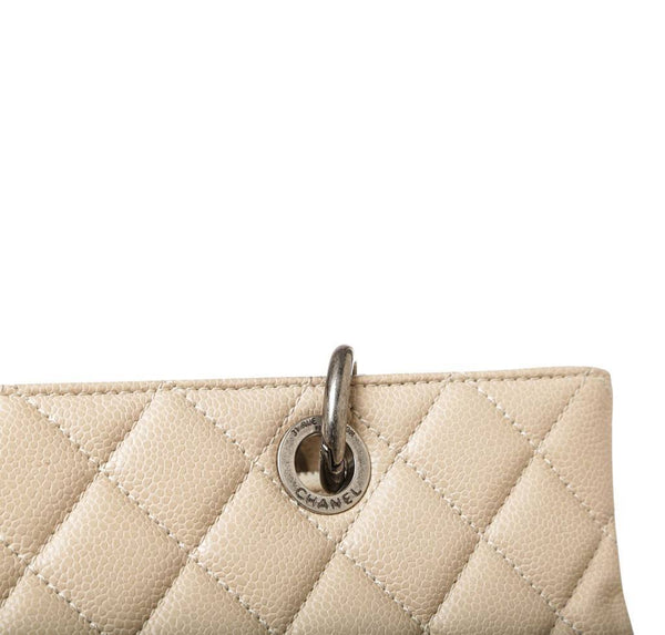 Chanel Grand Shopper Tote Beige Used Detail