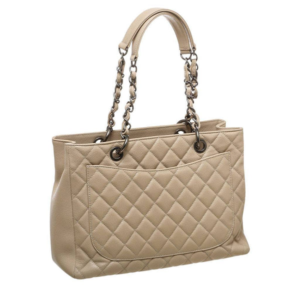 Chanel Grand Shopper Tote Beige Used Back