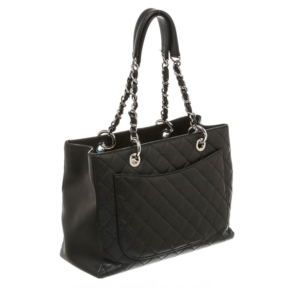 0ad787b75617 Chanel Grand Shopper Tote Bag Black Caviar Leather - Silver Hardware ...