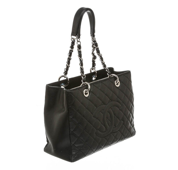 Chanel Grand Shopper Tote Black Caviar
