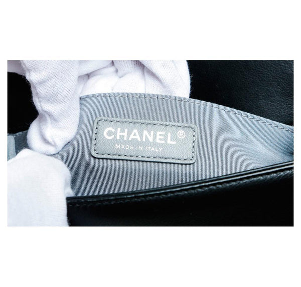 Chanel Mini Boy Chevron Black New Detail
