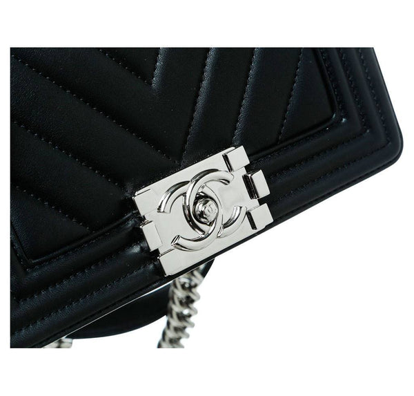 Chanel Mini Boy Chevron Black New Hardware